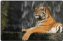 Use7 Teppich mit Tiger-Motiv, für Wohnzimmer,