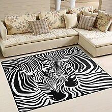 Use7 Teppich mit Zebramuster und Leopardenmuster,