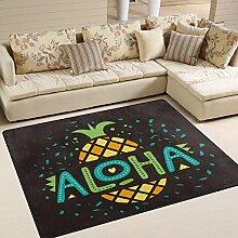 Use7 Teppich, Motiv: Aloha Ananas, Obst, Textil,