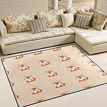 Use7 Teppich, Motiv Fuchs, für Wohnzimmer,