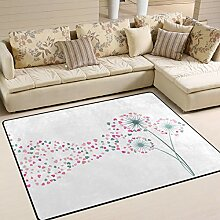 Use7 Teppich, Motiv Pusteblumen, für Wohnzimmer,