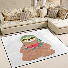 Use7 Teppich, Motiv: Süßes Faultier mit