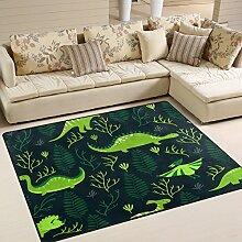 Use7 Teppich, Motiv: Wald mit Dinosaurier-Motiv,