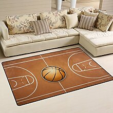 Use7 Vintage Basketball Teppich aus Holz,