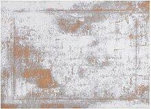 Used-Effekt-Teppichboden in Gold und Elfenbein mit