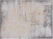 Used-Effekt-Teppichboden in Goldgelb und Braun mit