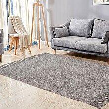 USTIDE Baumwolle, wendbar Teppich Flickenteppich