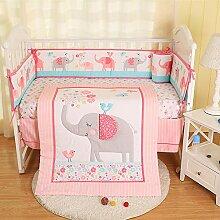 Ustide Bettwäsche-Set für Babybett, baumwolle,
