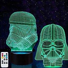 USXXR Star Wars Nachtlicht 3D-Illusion Lampe