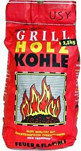 usy Grill Holzkohle 'Feuer & Flamme' 2,5kg
