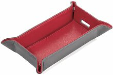 Utensilienbox faltbar verschiedene Farben Troika COLORI TASCHENLEERER, Farbe:grau/ro