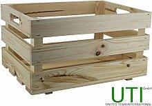 UTI GmbH Hochwertige und sehr robuste Obstkiste - Obststiege - Holzkiste - Gemüsekiste - Weinstiege - Lagerkiste