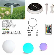 uTronixs Solar 40 cm LED Stimmungslampe Ball Licht