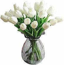 utu.vivi Künstliche Blumen echt Touch Tulpen PU