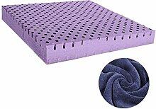 uus 7.5cm Stärke Einfache moderne Art langsamer Rückstoß-Gedächtnis-Schaum-Büro-Stuhl-Kissen und natürliches Latex-Auto-Sitzkissen für rückseitige Schmerz und Ischiasentlastungs-Stuhl-Kissen-unterschiedliche Größe für Ihre Wahl Bequemes u. Weiches Gefühl-gesundes Stuhl-Kissen ( Farbe : Ein blaues) , größe : 50*7.5cm )