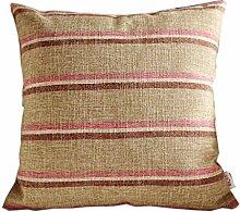 uus Brown Sofa Kissen Kissenbezug Moderne einfache Streifen Stuhl Kissen für Bett / Sofa Stuhl / Auto mit Pp Baumwolle Füllung Unterschiedliche Größen Weiche und bequeme Leinen Stoff Abdeckung ( ausgabe : Cushion , größe : 30*50cm )