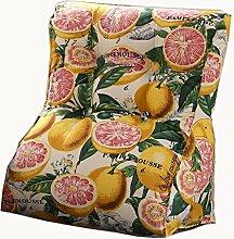 uus Bunte Dreieck Sofa Kissen Stuhl Sitz Nützliche Orange Muster Kissen Langsam Rebound Ergonomische Design Komfortable Rückenlehne 45 * 55cm / 55 * 60cm ( größe : 55*60cm )
