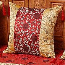 uus Chinese Style Thickend Stoffbezug Good-quality Sofa Kissen European Style Sofa Kissen Schöne Blumenmuster Stuhl Kissen Auto Sitzkissen ( MUSTER : C , größe : 58*58cm )