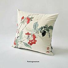 uus Chinesische traditionelle Malerei Sofa Kissenbezug Classic Style Rückenlehne Wurf Kissen Kissenbezug ( Farbe : B , größe : 55*55cm )