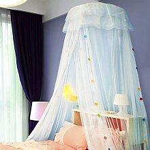 uus Decken Dome Moskitonetze Palace Prinzessin Bett Mantel 1.2 / 1.5 / 1.8 M Bed Studentenbetten ( Farbe : Blue2 , größe : 1.5m Bed )
