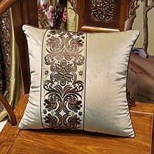 uus Die neue Art und Weise europäischer Art-Stuhl-Flanell-gestickte Nachttisch-Sofa-Kissen-Kissen-Kissen mit innerer Kern-feine Kunstfertigkeit-Stickerei-gute Qualitätssofa-Kissen-schöner Stuhl-Kissen ( design : D , größe : 45*45 )