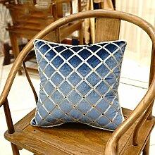 uus Die neue Art und Weise europäischer Art-Stuhl-Flanell-gestickte Nachttisch-Sofa-Kissen-Kissen-Kissen mit innerer Kern-feine Kunstfertigkeit-Stickerei-gute Qualitätssofa-Kissen-schöner Stuhl-Kissen ( design : C , größe : 45*45 )