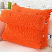 uus Einfaches koreanisches Art-Sofa-Kissen mit entfernbarem Kissen reine Farben-Kissen weiche bequeme Sofa-Kissen einfach, Ihr Haus zusammenzubringen 45*50*22cm ( Farbe : B )