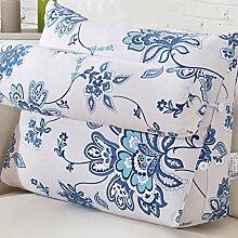 uus Ergonomische Design Sofa Kissen Langsam Rebound Einfache und komfortable Kissen Mit abnehmbarem Kissen der reinen Farbe Einfach, Ihr Haus 45 * 50 * 22cm zusammenzubringen ( Farbe : K )