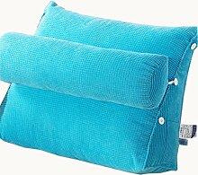 uus Ergonomisches Entwurfs-Sofa-Kissen langsamer Rückstoß Einfach und bequem Kissen mit entfernbarem Kissen der reinen Farbe 45 * 50 * 22cm ( Farbe : C )
