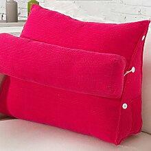 uus Ergonomisches Entwurfs-Sofa-Kissen langsamer Rückstoß Einfach und bequem Kissen mit entfernbarem Kissen der reinen Farbe 45 * 50 * 22cm ( Farbe : D )