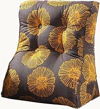 uus Gelb Grau Dreieck Sofa Kissen Stuhl Sitz Nützliche Blume Muster Kissen Langsam Rebound Ergonomische Design Komfortable Rückenlehne 45 * 55cm / 55 * 60cm ( größe : 45*55cm )