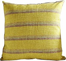 uus Gelbe Sofa-Kissen-Abdeckung Moderne einfache Streifen-Stuhl-Kissen für Bett / Sofa Stuhl / Auto Mit Pp-Baumwolle, die verschiedene Größen füllt ( ausgabe : Cushion , größe : 45*45cm )