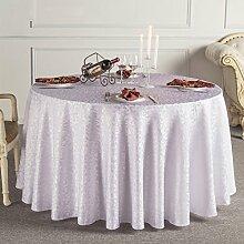 uus Glänzende runde Tischdecke mit goldenem Muster geeignet für Esszimmer Tisch Restaurant Couchtisch Europäische Picknickauflage Tischdecke Durchmesser 240cm ( Farbe : F )