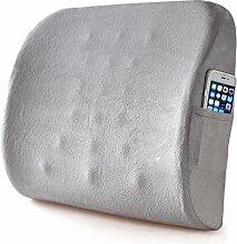 uus GYD Charcoal Absatz Lendenkissen Lendenwirbelstütze Büro-Auto-Lendenkissen Taillen-Kissen-Kissen-Stuhl Rückenkissen ( Farbe : Grau )