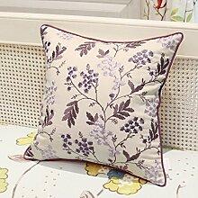 uus Kissen Kissen Continental gestickter Sofa-Kissen, Nachtkissen, Autokissen Kissen ( Farbe : GH07 )