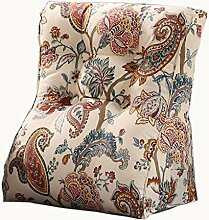 uus Land Stil Dreieck Sofa Kissen Stuhl Sitz Nützliche Blume Muster Kissen Langsam Rebound Ergonomische Design Komfortable Rückenlehne 45 * 55cm / 55 * 60cm ( größe : 45*55cm )