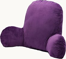 uus Langlebig Mordern Kissen geeignet für Sofa-Bett Stuhl Sitz Rückenlehne reine Farbe bequem mit zwei Flügeln (lila Farbe) ( größe : 65*40*26cm )