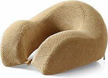 uus Langsame Rebound Memory Cotton Dick Kissen Taille Back Bed Von Lazy Pad Schwangere Frauen Alte Menschen Muti-Funktion Legging Kissen Nap Pillow ( Farbe : Messing )