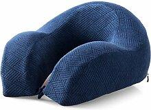 uus Langsame Rebound Memory Cotton Dick Kissen Taille Back Bed Von Lazy Pad Schwangere Frauen Alte Menschen Muti-Funktion Legging Kissen Nap Pillow ( Farbe : Blau )