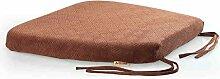 uus Memory Cotton Stuhl Kissen Slow Rebound Anti-Rutsch Sitz Sitzkissen Stuhl Sitzpolster mit abnehmbarem Bezug und Memory Foam Filling ( Farbe : Braun )