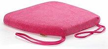 uus Memory Cotton Stuhl Kissen Slow Rebound Anti-Rutsch Sitz Sitzkissen Stuhl Sitzpolster mit abnehmbarem Bezug und Memory Foam Filling ( Farbe : Pink )