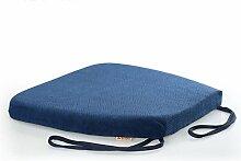 uus Memory Cotton Stuhl Kissen Slow Rebound Anti-Rutsch Sitz Sitzkissen Stuhl Sitzpolster mit abnehmbarem Bezug und Memory Foam Filling ( Farbe : Blau )