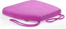 uus Memory Cotton Stuhl Kissen Slow Rebound Anti-Rutsch Sitz Sitzkissen Stuhl Sitzpolster mit abnehmbarem Bezug und Memory Foam Filling ( Farbe : Lila )