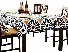 uus Mittelmeer-Stil Tischdecke Tischfahne Stoff Baumwolle Tischdecke Esszimmer Pad European Hotel Square Tischdecke ( größe : 140*200cm )
