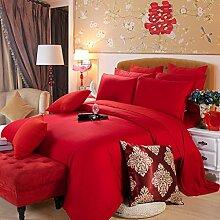 uus Moderne Kreative Baumwolle vierteilige vierteilige Luxusbett Bettbezug Bettwäsche Hotel Bett Sets 1,5 Mt Bett vier stück ( Farbe : E , größe : 1.5(150*200CM) )