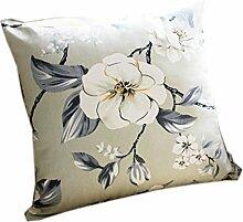 uus Moderne Pastoral Kissenbezug Geeignet für Sofa / Stuhl / Fenster / Bett Kissen Made With Natural Cotton Material ( Farbe : A , größe : 30*45cm )