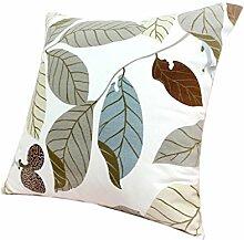 uus Moderne Pastoral Kissenbezug Geeignet für Sofa / Stuhl / Fenster / Bett Kissen Made With Natural Cotton Material ( Farbe : F , größe : 45*45cm )