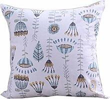 uus Moderne Pastoral Kissenbezug Geeignet für Sofa / Stuhl / Fenster / Bett Kissen Made With Natural Cotton Material ( Farbe : B , größe : 55*55cm )