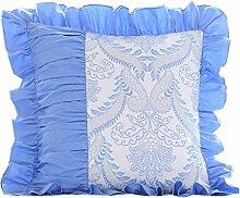 uus Moderne quadratische populäre Sofa-Kissen-Abdeckung reine Farben-Spitze-seitliche entfernbare Abdeckungs-waschbare Perle für Bett / Fenster / Auto / Sofa verschiedene Farben u. Größen für Ihre Wahl ( Farbe : C , größe : 50*50cm )