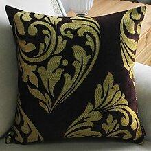 uus Moderne Sofa Kissen Einfache Mode Stil Breathable Natürliche Baumwolle Sofa Stuhl Auto Fenster Bett Kissen Abdeckung Abnehmbaren Sommer ( Farbe : B , ausgabe : Cushion )